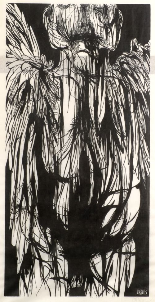 23: LEONARD BASKIN (American 1922-2000) ANGEL