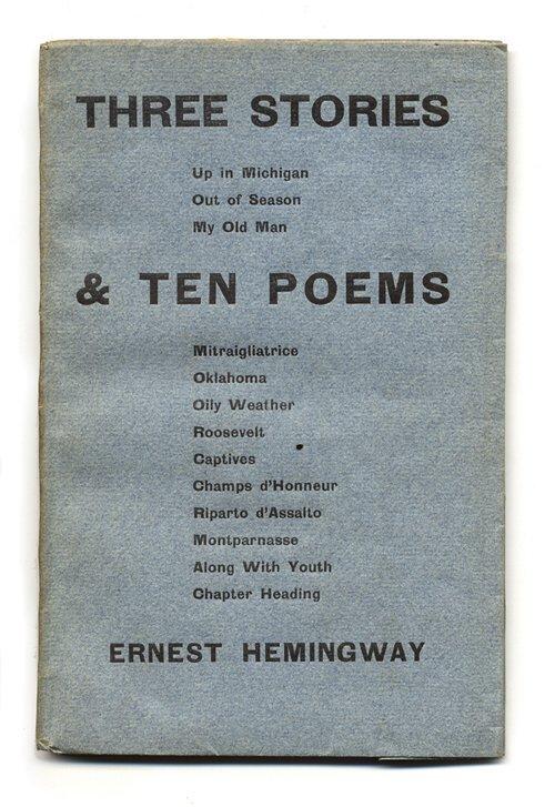 256: 1 vol. (Hemingway, Ernest.) Three Storie