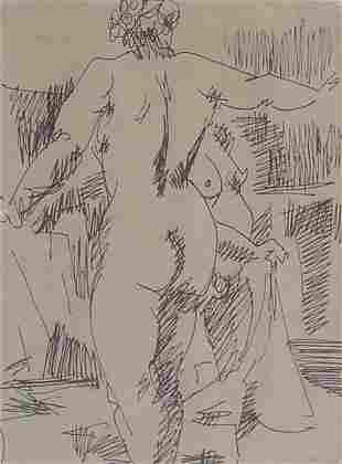PAUL KEENE (American b. 1920) NUDE signe
