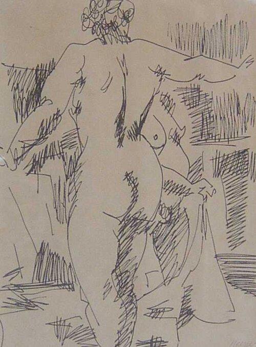 2: PAUL KEENE (American b. 1920) NUDE   signe