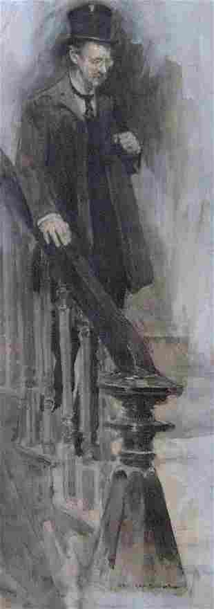 JAY HAMBRIDGE (American 1867-1924) DESCEN