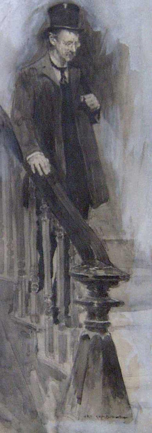 14: JAY HAMBRIDGE (American 1867-1924) DESCEN