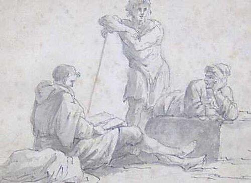 16: ITALIAN SCHOOL (18th Century) FIGURES AT