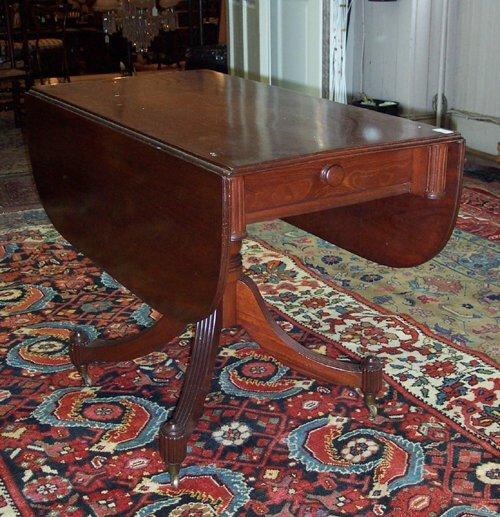 5: REGENCY MAHOGANY PEMBROKE TABLE Ca. 1820 T