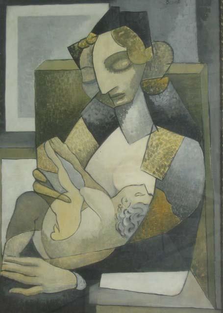 1: BENJAMIN G BENNO (american 1901-1980) MERE ET ENFANT
