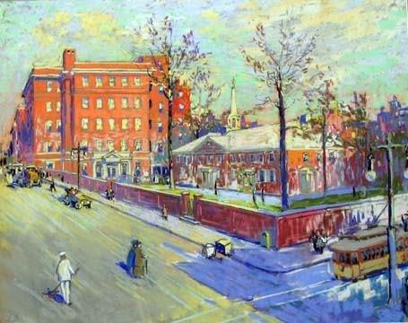 2: JOHN J DULL (american 1859-1949) ARCH STREET CENTRE