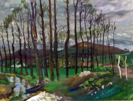 3: MARC HOURRIEL (french 20th century) LANDSCAPE WITH T