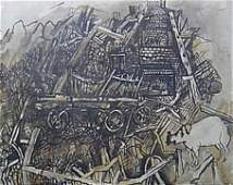 10: PHILIP EVERGOOD (american 1901-1973) CHARRED HOME A