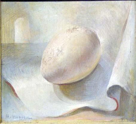 11: HENRIETTA HOOPES (american b 1904) EGG signed, egg