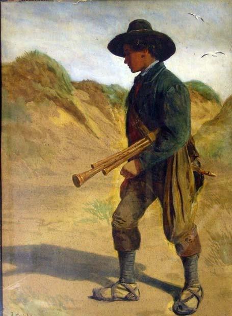 14: JOSEPH KNIGHT (british 1837-1909) TRAVELLING MUSICI
