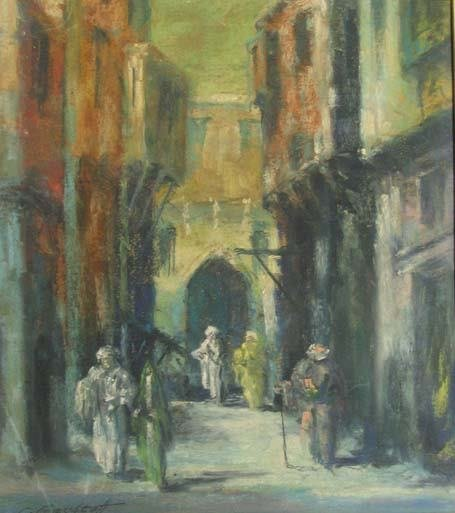 17: LEONID GECHTOFF (american 1883-1941) CAIRO STREET S