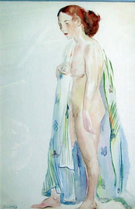 18: THERESA BERNSTEIN (american 1890-2002) STANDING FEM