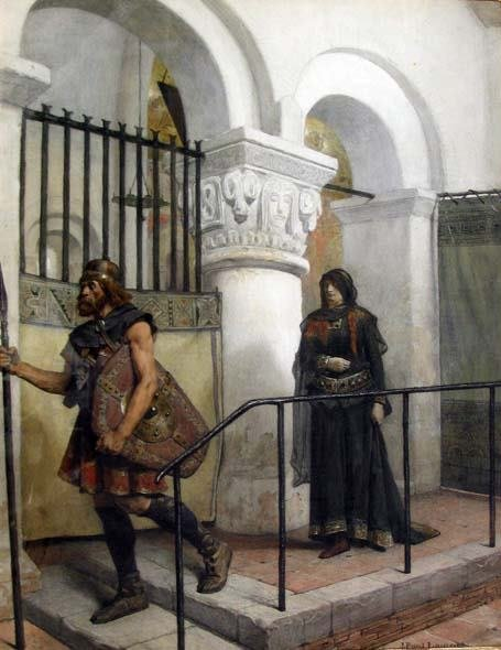 19: JEAN-PAUL LAURENS (french 1838-1921) EXIT OF THE SO