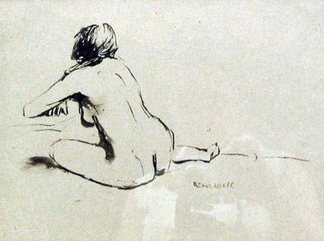 20: SEYMOUR REMENICK (american b 1923) FEMALE NUDE  sig