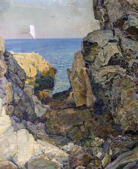 211: OLAF MARTINUS BRAUNER (american 1869-1947) ISLE OF