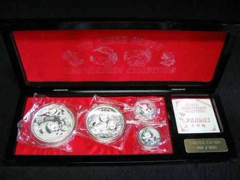 1002: The Silver Panda anniversary collection, , 4 coin