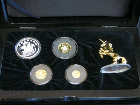 1004: 1994 Chinese American proof set, , 4 coins, boxed