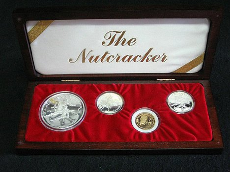 "1007: Russian  Nutcracker"" proof set, , 4 coins, boxed"""
