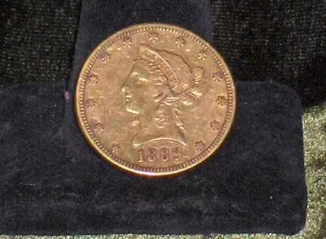 1012: 1889 U.S. ten dollar gold piece, ,