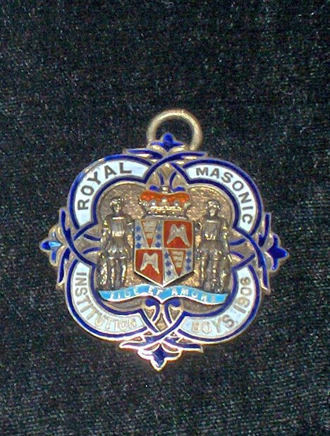 1013: English silver and enamel Masonic pendent., circa