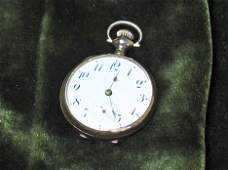 1115: Lady's Elgin gold case open face pocket watch, ,