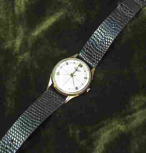 1117: Gentleman's Longines wrist watch, , circular 14 k