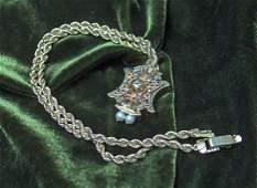 1179 14 karat yellow gold diamond and pearl pendent n