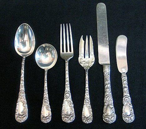 1287: Sterling silver flatware by Lunt, early 20th cent