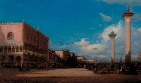 2010: HENRI DUVIEUX (french 1855-1882) VENICE  Signed H