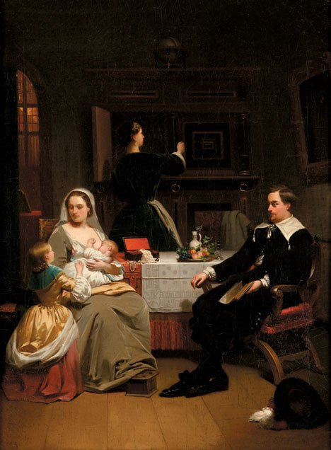 2013: HENDRIK HOLLANDER (dutch 1823-1884) A DOMESTIC IN