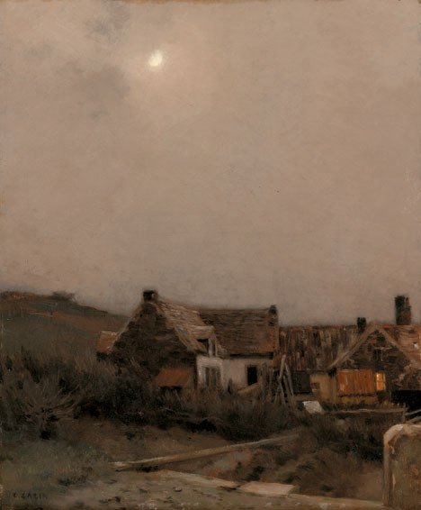 2016: JEAN-CHARLES CAZIN (french 1841-1901) MOONLIT COT