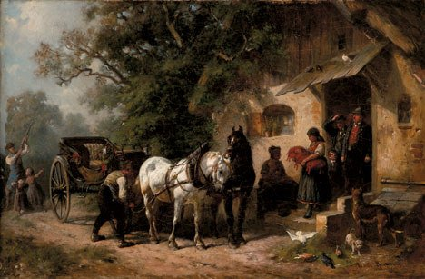 2018: LOUIS BRAUN (german 1836-1916) PREPARING FOR THE
