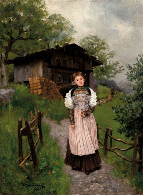 2019: HANS BACHMANN (swiss 1852-1917) SUNDAY BEST  Sign
