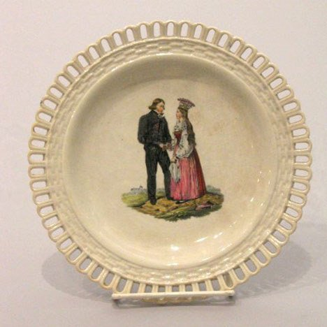 13: A Swedish (Rorstrand) Faience Plate, 19th century,
