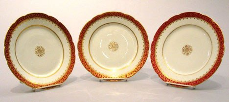 16: A Set of twelve Limoges Porcelain Service Plates, 2