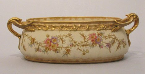 24: Royal Bonn gilt and decorated porcelain jardinier