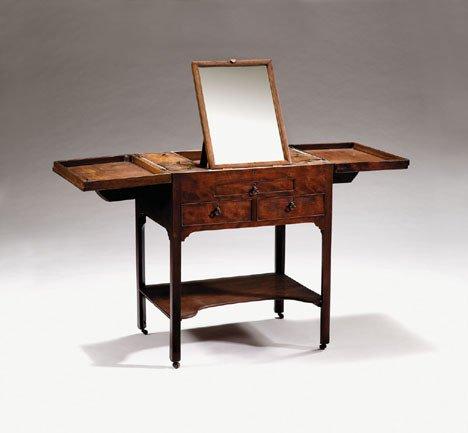 1009: George III mahogany gentleman's dressing table, c