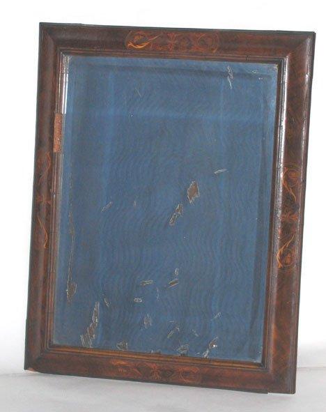 1012: William & Mary style walnut & inlaid wall mirror,
