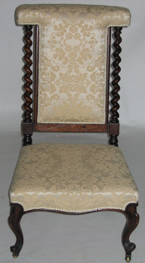 1017: Victorian upholstered prie-dieu, mid 19th century