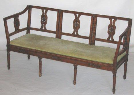 1225: French Neoclassical settee, circa 1800, The tripa