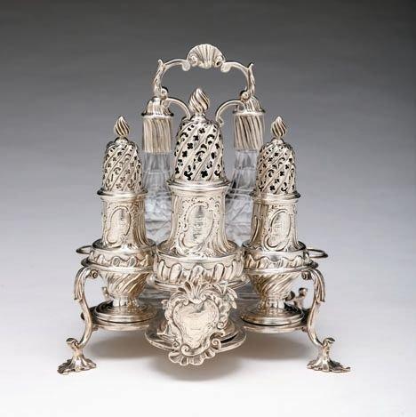 1484: George II sterling silver cruet, john white, lond