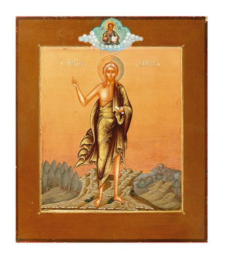 2514: Russian icon, , 'St. Mary of Egypt', depicted sta