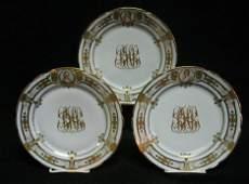 2767 Set of twelve Dresden porcelain plates early 20t