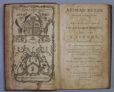 3002: 2 vols. Pennsylvania Masonic Subjects: [Dermott,