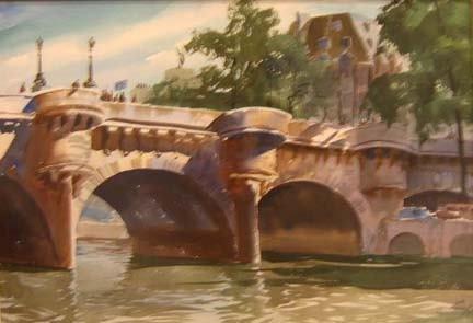 4017: JOHN PIKE (american 1911-1979) PONT NEUF, PARIS