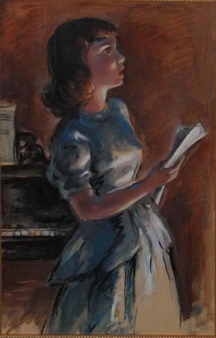 4018: JOHN FOLINSBEE (american 1892-1972) YOUNG GIRL SI