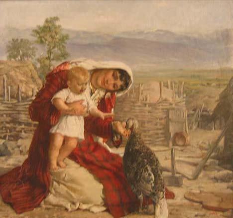 4139: JAN V MRKVICKA (bulgarian b 1856) FEEDING THE TUR