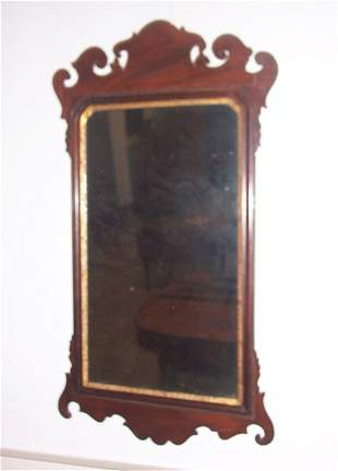 CHIPPENDALE MAHOGANY AND PARCEL GILT LOO