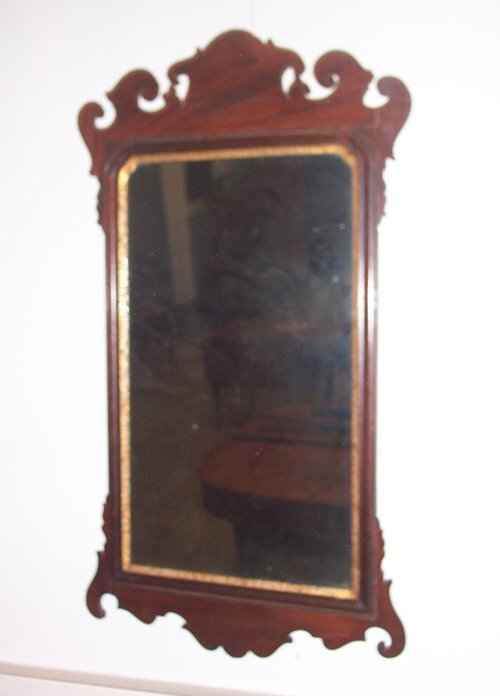 19A: CHIPPENDALE MAHOGANY AND PARCEL GILT LOO