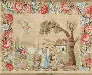 A NEEDLEWORK PICTURE Pennsylvania, dated